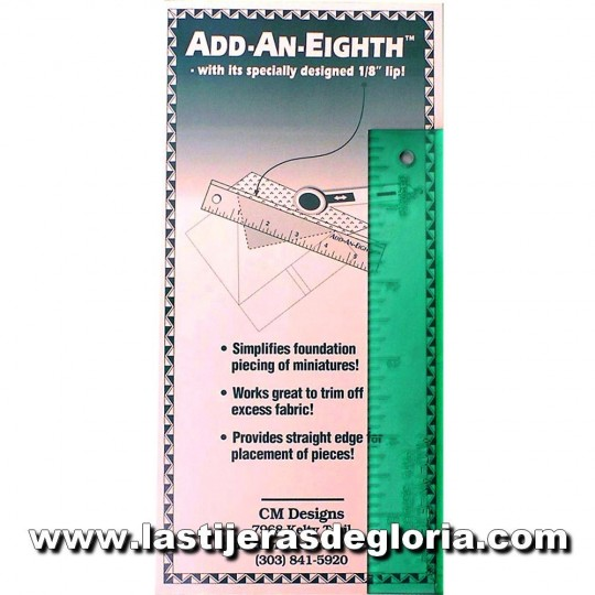 Regla Patchwork Add-an-eighth para cortes de 1/8""