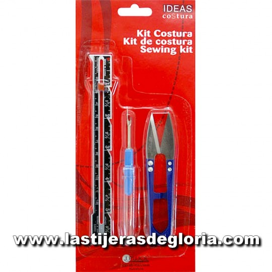 Kit de costura medidor, descosedor y cortahilos IDEAS