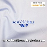 Tela patchwork lisa azul hielo True Craft Cotton de Rose & Hubble