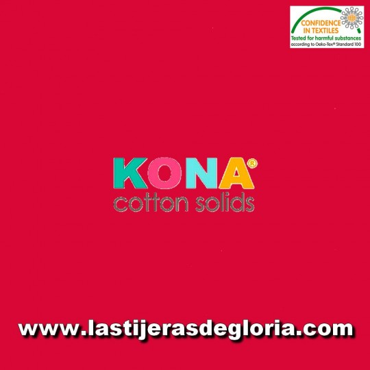 Tela patchwork lisa rojo Red KONA Cotton Solids de Robert Kaufman