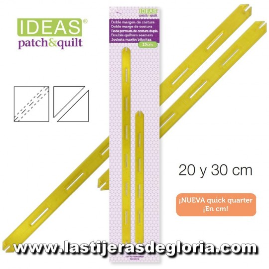 Reglas Quick Quarter de 20 y 30 cm. IDEAS Patch