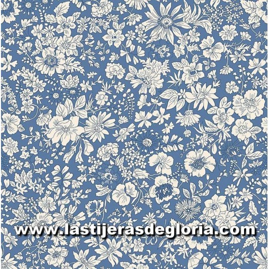 "Tela floral azul colección ""The English Garden"" de Liberty London"