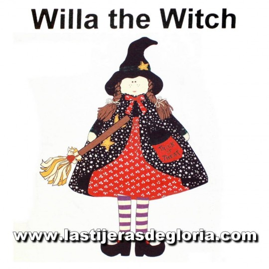 Panel muñeca brujita Willa the Witch de Quilting Treasures
