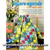 """Libro """"Square Agonals"""" A new angle on Quilting"""