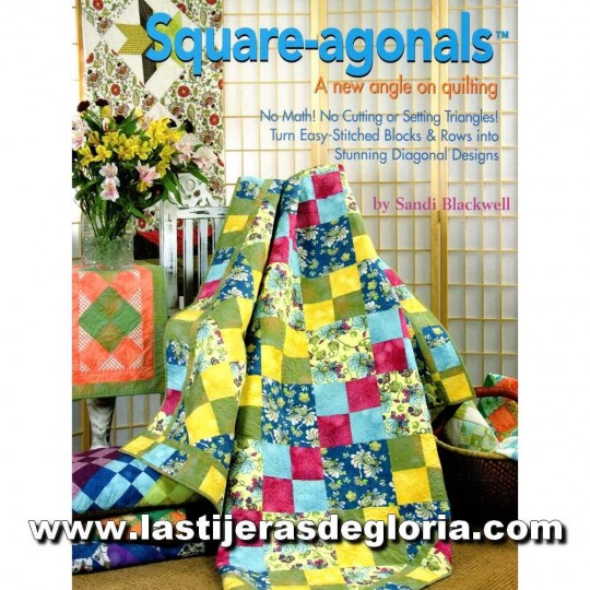 "Libro ""Square Agonals"" A new angle on Quilting (en inglés) de Sandi Blackwell"