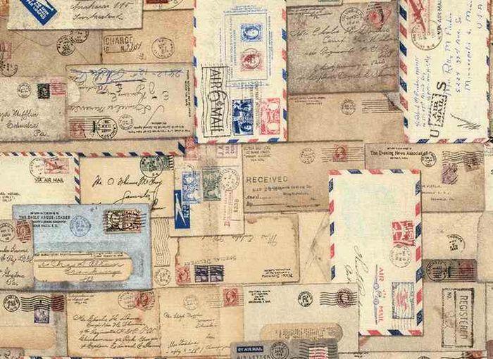 Tela Letter colección Correspondence - Eclectic Elements de Tim Holtz para Coats