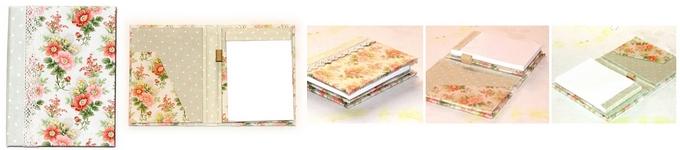 Monográfico Block de notas forrado de tela de patchwork