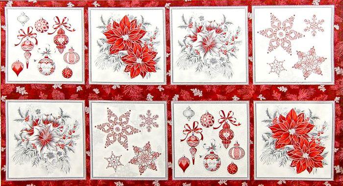 Panel de Navidad colección Holiday Flourish de Robert Kaufman