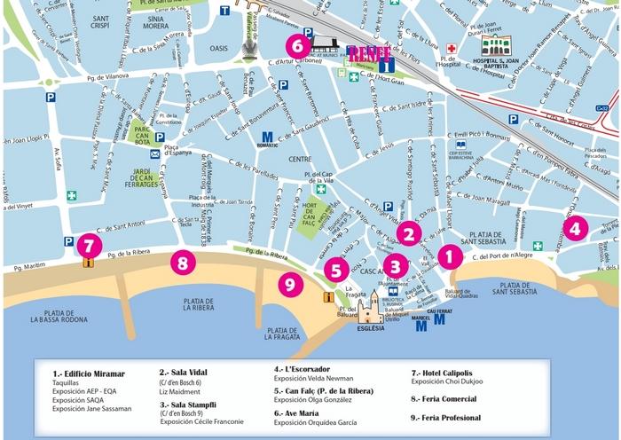 plano ubicación exposiciones Festival Patchwork Sitges 2020