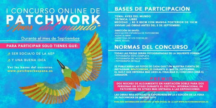 Concurso online patchwork Madrid 2019