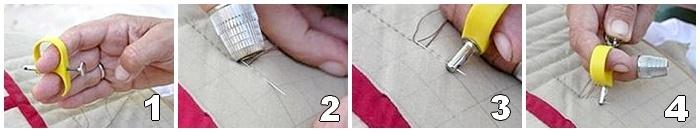 Cómo funciona el estirador de agujas ergonómico para acolchado a mano