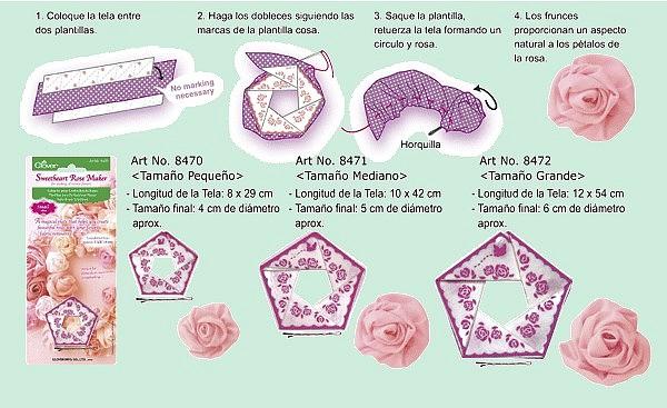 Instrucciones confeccionador de rosas Clover