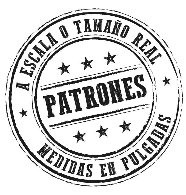 Patchwork Secrets - patrones a escala o tamaño real