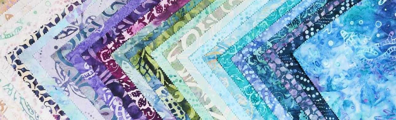 Telas Batiks en Patchwork Las Tijeras de Gloria