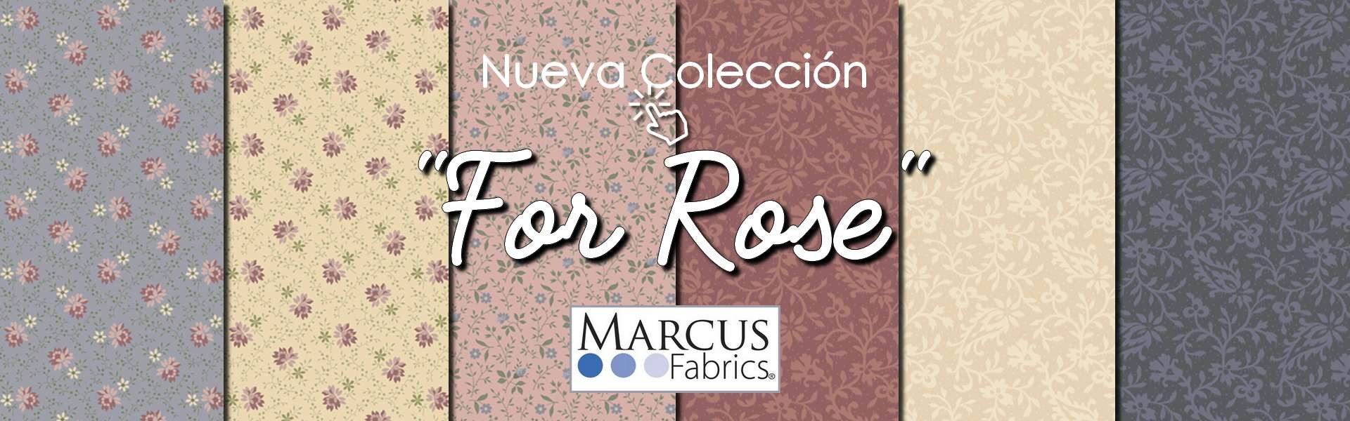 Colección For Rose de Marchives Marcus Fabrics en Las Tijeras de Gloria