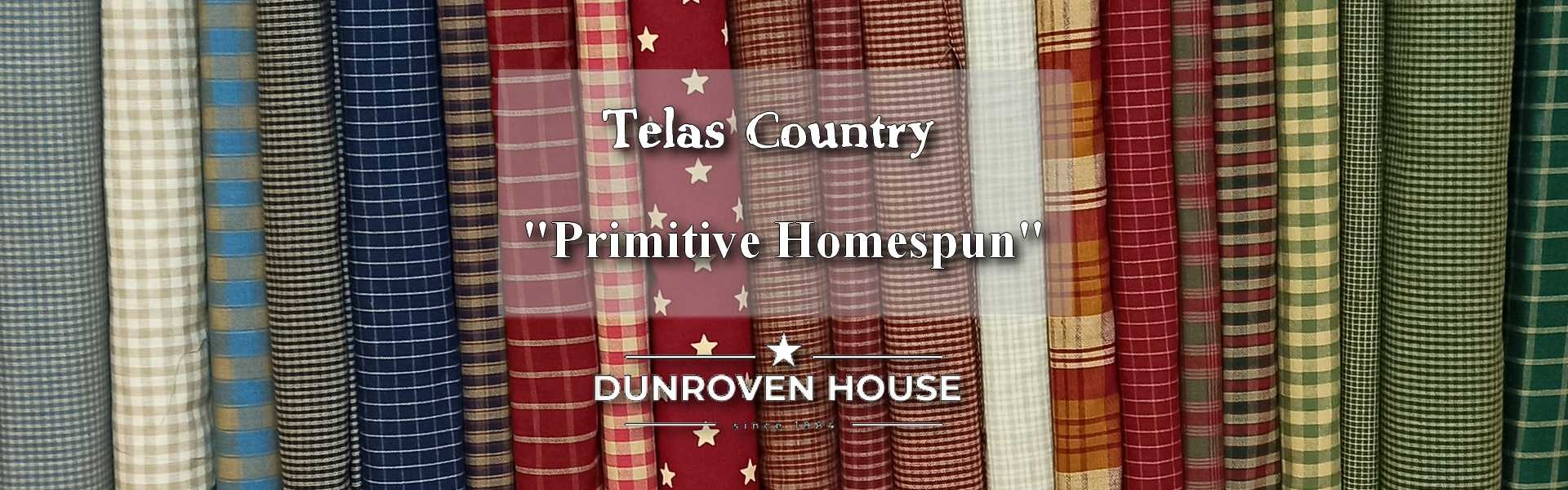 Telas Country Primitive Homespun Dunroven House en Las Tijeras de Gloria