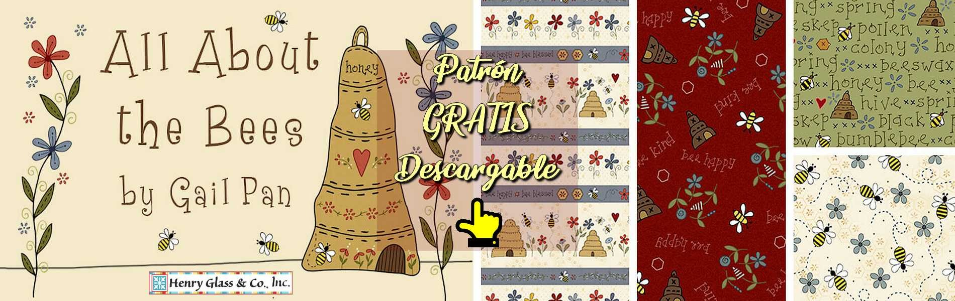 Telas patchwork colección All About the Bees de Gail Pan para Henry Glass
