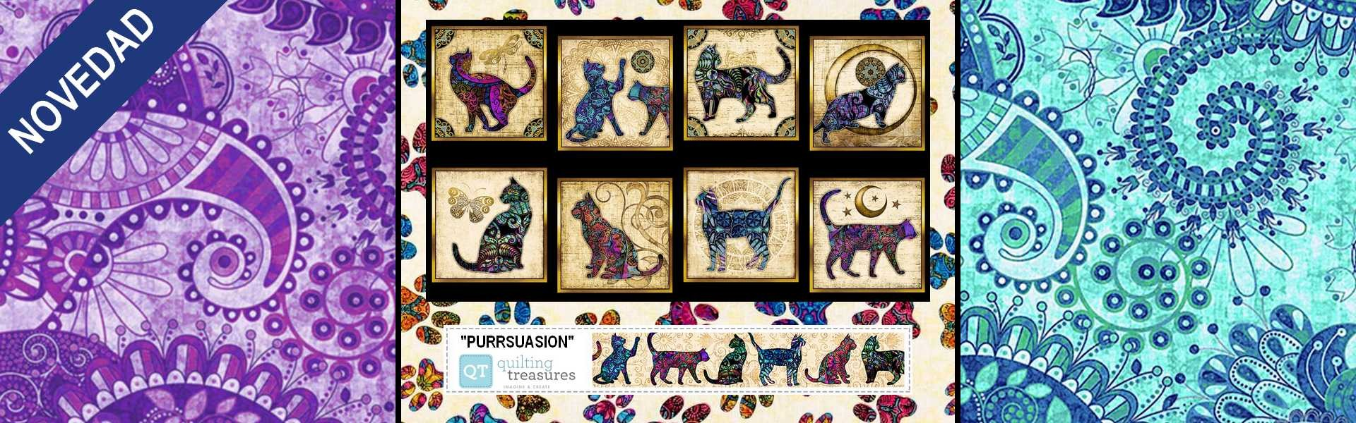 Purrsuasion de Quilting Treasures